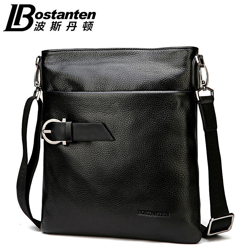 2018 New BOSTANTEN 100% GENUINE LEATHER cowhide Shoulder - ჩანთები - ფოტო 2