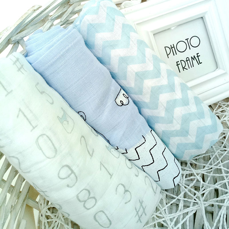 3Pcs Gauze Bamboo Insert Reusable Washable Cotton Baby Muslin Breathable Inserts Boosters Liners For Baby Cloth Diapers Nappy