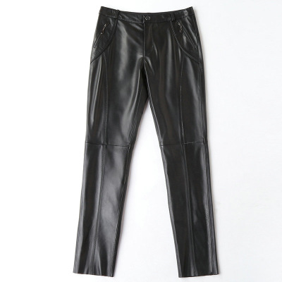 2019 New Fashion Genuine Sheep Leather Pants H11