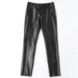 2019 di Nuovo Modo Genuino Pantaloni di Pelle di Pecora H11