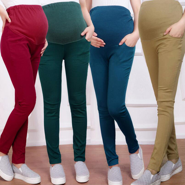 Women Maternity Care Pregnant Pants Women Pregnant Belly Pants Pencil Pants Cotton Leggings Spring Autumn Paragraph Trousers