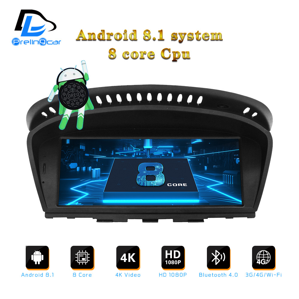 Android 8.1 8 core IPS autoradio gps navigation multimédia pour BMW E90 2005-2012 CCC CIC système 8.8 pouces lecteur dvd automatique