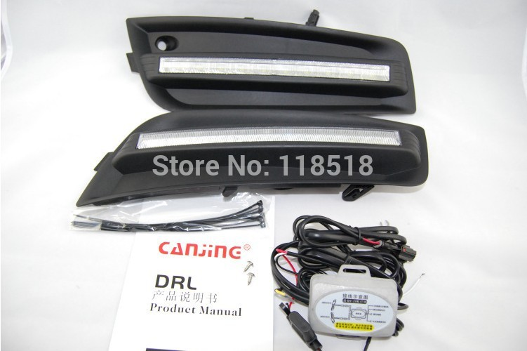 New! 09-12 Chevy Cruze LED DRL Daytime Running Light fog lamp cover with dimmer function novel design fast free ship