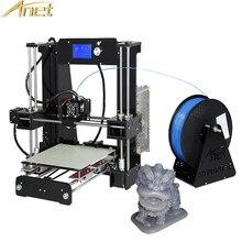 Анет A6 A2 3D Принтер Высокоточный RepRap Prusa i3 DIY 3D-принтеры комплект 12684 ЖК-дисплей Экран Дисплей Бесплатная 10 м нити + SD карты
