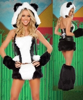 2017 Limited Time Limited Adult Women Disfraces Carnival Costume Skunk Cosplay Dress Halloween Game Service Skunks