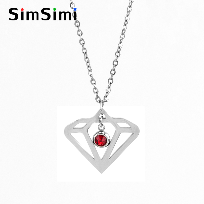 Jewellery & Watches Simsimi Gem Shape & Birth Stones Charm Choker For Women Female Jewelry Stainless Steel Origin Fashion Necklaces Gift Jewelry