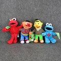 """4 Шт./лот 9 """"23 см Улица Сезам Elmo Cookie Берт Эрни Фаршированные Плюшевые Куклы Мягкие Игрушки Для Детей"""