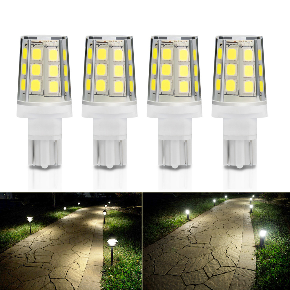 US $16 19 10% OFF|Kohree 4 Packs Edison 2 5W LED Replacement Landscape  Pathway Light Bulb 12V T5/T10 Base Wedge for Malibu Paradise Moonrays  White-in
