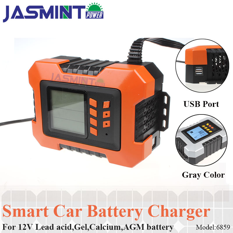 Car Battery Charger used to charge maintains and reconditions Car Motocycle Lead Acid Battery and More 8A 12V Fully Automatic Battery Charger//Maintainer with LCD Screen