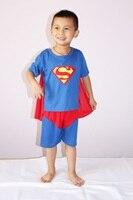 半袖スーパーマン衣装、男の子ハロウィン衣装