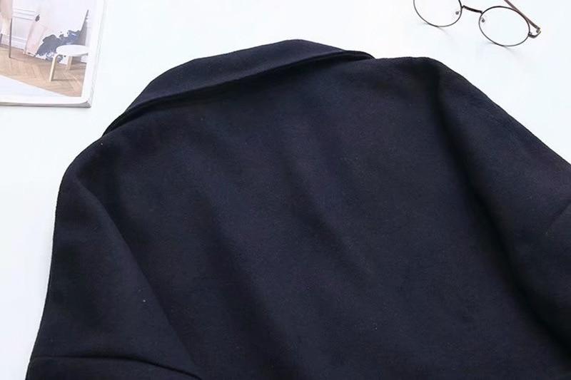 Femme Femmes La Plus Collar Laine Manteau Taille Mélange Manches Hiver Manteaux down Bleu 2018 Automne Longues Turn Marine dqUrPwqI
