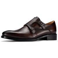 Новый стиль Для мужчин кожа две пряжки ремни торжественное платье увеличивающие рост монах обувь для Бизнес/свадебные