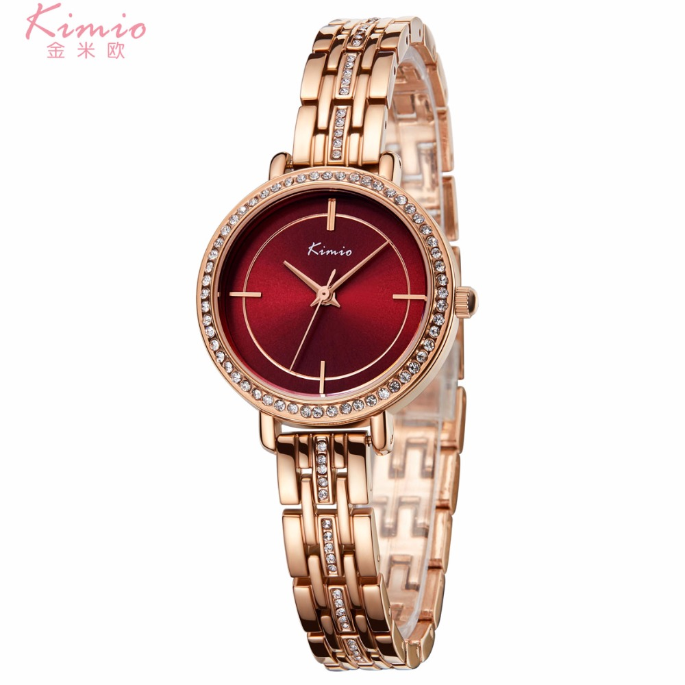 KIMIO Fashion Colorful crystal Dial Women Bracelet Watch Womens Wristwatch stainless steel Quartz Womens Watches Brand ClockKIMIO Fashion Colorful crystal Dial Women Bracelet Watch Womens Wristwatch stainless steel Quartz Womens Watches Brand Clock