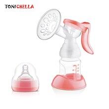 Manual Breast Feeding Pump Original Manual Breast Milk Silicon PP BPA Free With Milk Bottle Nipple Function Breast Pumps T0100
