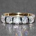 Queen Brilliance 1.25 Кт F Цвет Обручальное кольцо Половина Вечность группа Соответствия Муассанит Diamond Band Подлинная 14 К 585 Два Тона золото