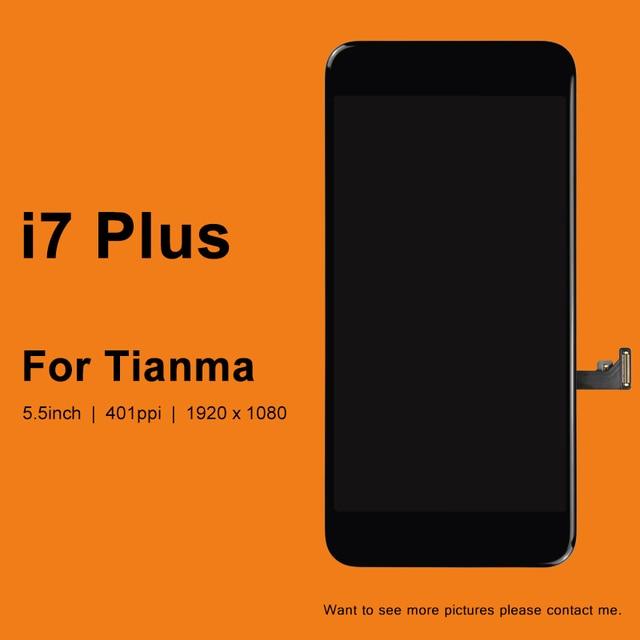 10 pçs para tianma qualidade lcd 5.5 Polegada para iphone 7 plus display lcd com boa tela de toque 3d digitador assembléia substituição