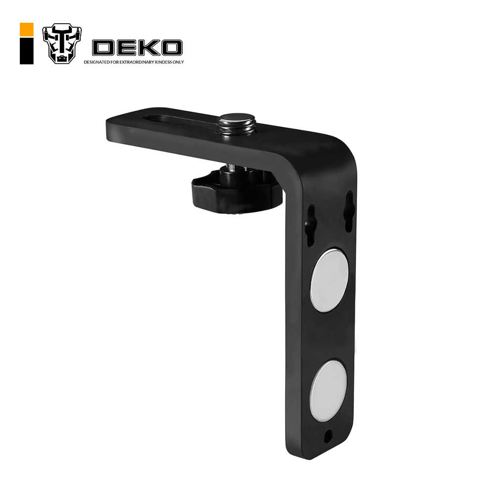 "DEKO LM01 Laser Level L-shape Magnetic Pivoting Base for Instruments Lasers (5/8"" Thread) Wall & Ceiling Mount"