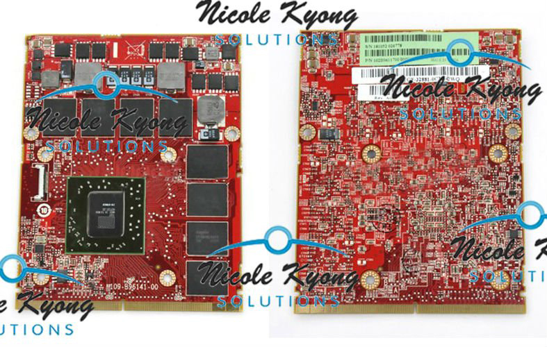 100% travail HD6870M HD 6870 M 1 GB GDDR5 Vidéo VGA CARTE Pour Dell M17X R2 R3 R4 R5 R6 M18x R1 R2 R3