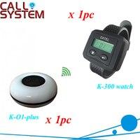 Servicio del sistema botón de llamada camarero 1 reloj con 1 botón para pedido de muestra aprobado por CE