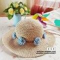 Mujeres de la manera Sombreros de Ala Ancha de Paja Flojo Lindo Plegable Flor de Verano Anti-Ultravioleta Playa Sol sombrero chapeau de paille