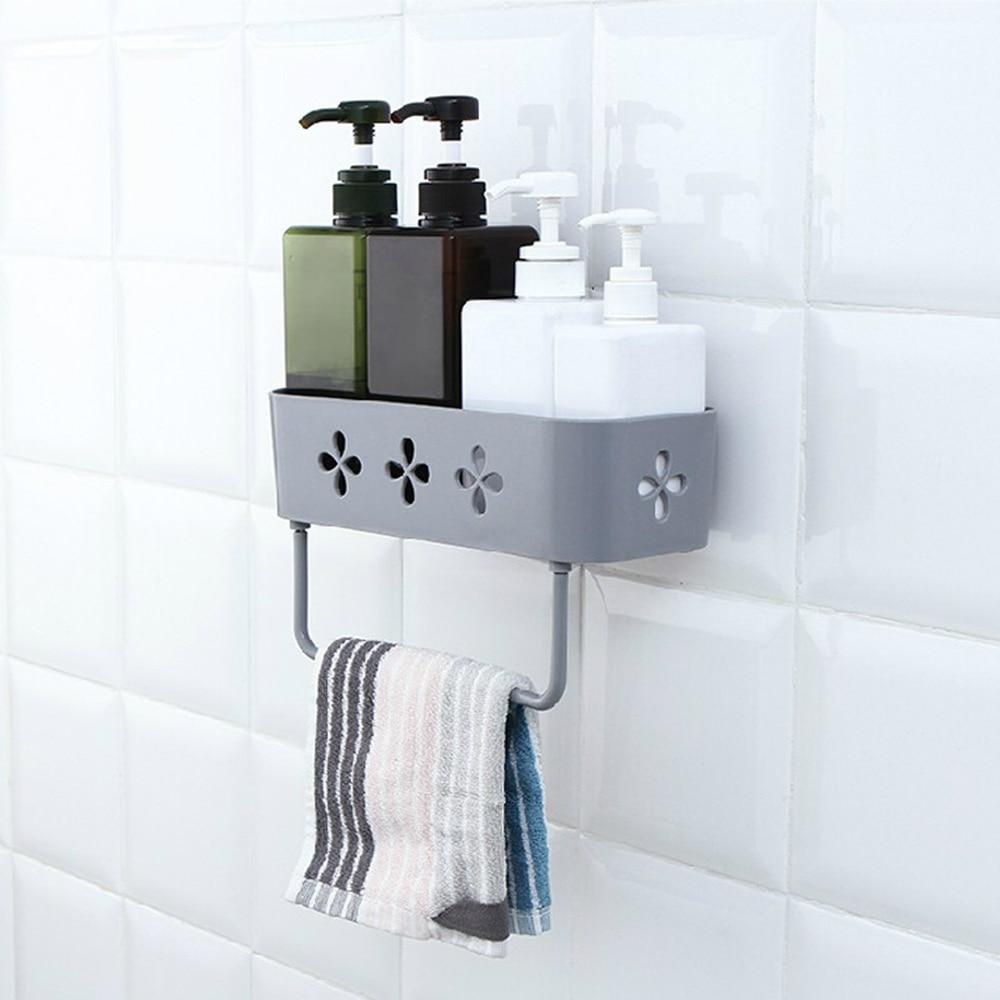 Bathroom Shelving Wall Storage Rack Organizer For Shower Holder Toilet Suction Cup Storage Rack Accessories Kitchen Bathroom