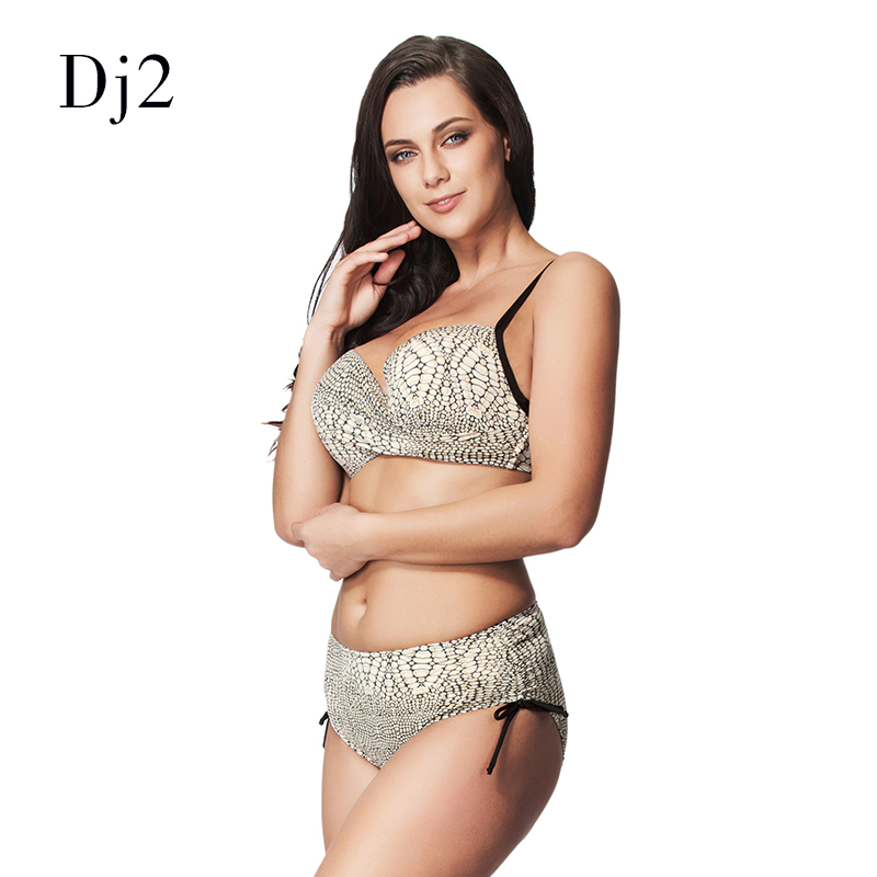5402bf1c9006d9 Snake Skin Print Bikini Set High Waist Swimsuit Women Plus Size Swimwear  Retro Bathing Suit Bandeau Strappy Bikini Plus Size 6xl-in Bikinis Set from  Sports ...