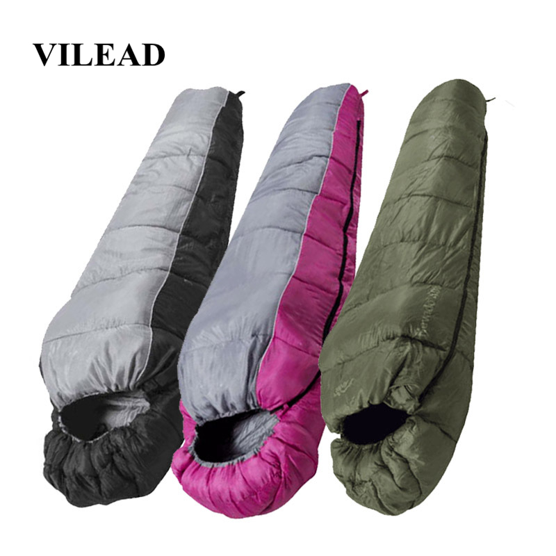 VILEAD 3 Colors Mummy type Sleeping Bag Portable Ultralight Waterproof Hiking Camping Stuff Adult Sleep Quilt Bed Lightweight-in Sleeping Bags from Sports & Entertainment