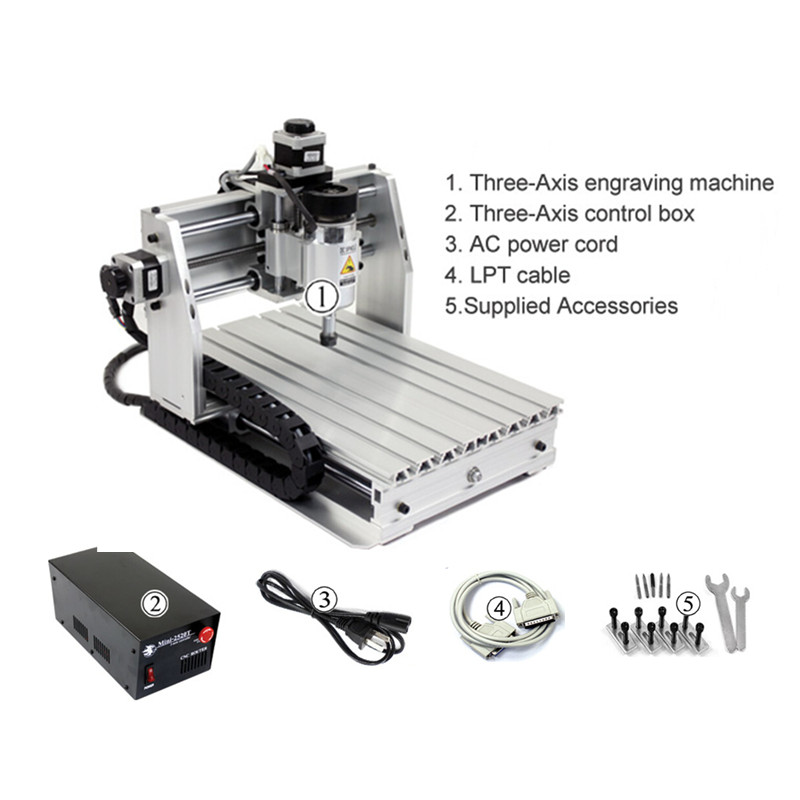 Free tax MINI CNC 3 axis wood router milling engraving drilling machine working area 20*25cm
