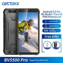 Мобильный телефон Blackview BV5500 Pro 4G, влагозащита IP68, 3 ГБ+16 ГБ, экран 5,5 дюйма, 4400 мАч, на базе Android 9.0 Pie, поддержка двух SIM карт, защищенный смартфон