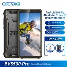 Smartphone 4G blackview bv5500 pro, 3GB RAM, 16GB rom, pantalla de 5,5 pulgadas, batería de 4400mAh, so Android 9,0, Tarjeta SIM Dual, móvil resistente, resistente al agua IP68