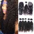 7a Virgin Malaysian Curly Hair With Closure Vip Beauty Deep Wave Curly Malaysian Virgin Hair 3 Bundles With Lace Closure 4pcs