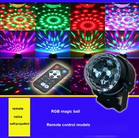 Crystal Magic Ball Led Stage Lamp Remote Control RGB Stage Lights Rotating Colorful Stage Lighting Disco