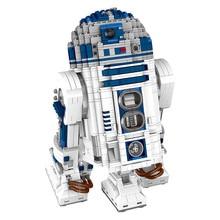 2137 unids Gran guerra de Las Galaxias R2-D2 Robot Building Block Sets La Fuerza Despierta Compatible Batalla Espacial LegoINGLYS Técnica de Juguete para Kid