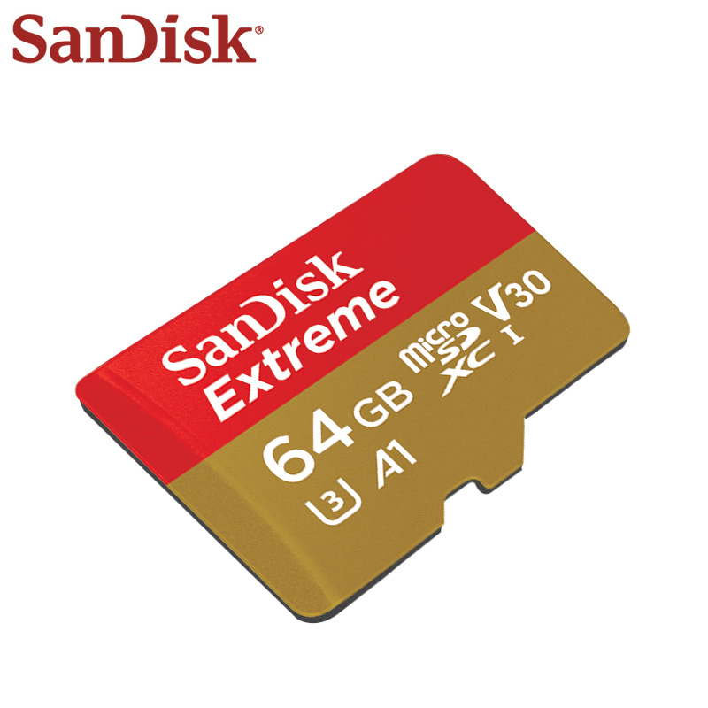 SanDisk Memory Card 64GB SDXC Max Read Speed 100M/s V30 Extreme Micro SD Card U3 4K A1 Memory Flash Card Microsd sandisk ultra compact flash memory card 50mb s