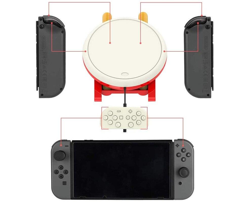 Contrôleur de pilon accessoires de jeu Console contrôleur de jeu vidéo pour Nintendo Switch-tambour contrôleur maître Set bâtons - 5