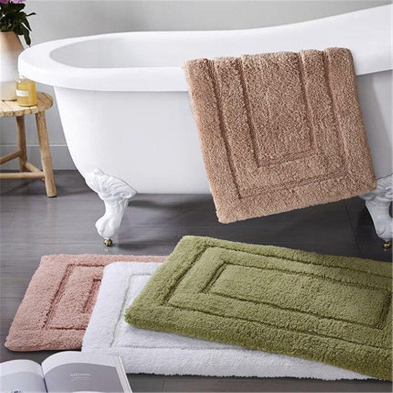 650G cinq étoiles hôtel coton salle de bain tapis de sol coton famille cuisine salle de bains jacquard porte tapis