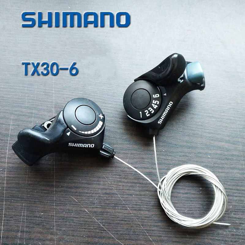 Shimano Gratis forsendelse SL-TX30 Tourney Mountainbike Trigger Shifters 3x6s 18 Speed ​​Shift Levers cykelskifter