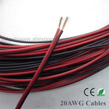 New 10m 20AWG LED cables UL2468 copper Red black cable extension wire For LED Strip,PVC insulated Electronics wire free shipping