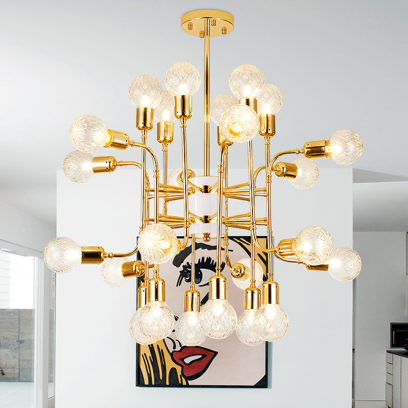 New Gold Modern Pendant Lights For Living Room Dining Hanging Lamp Fixtures Free Shipping