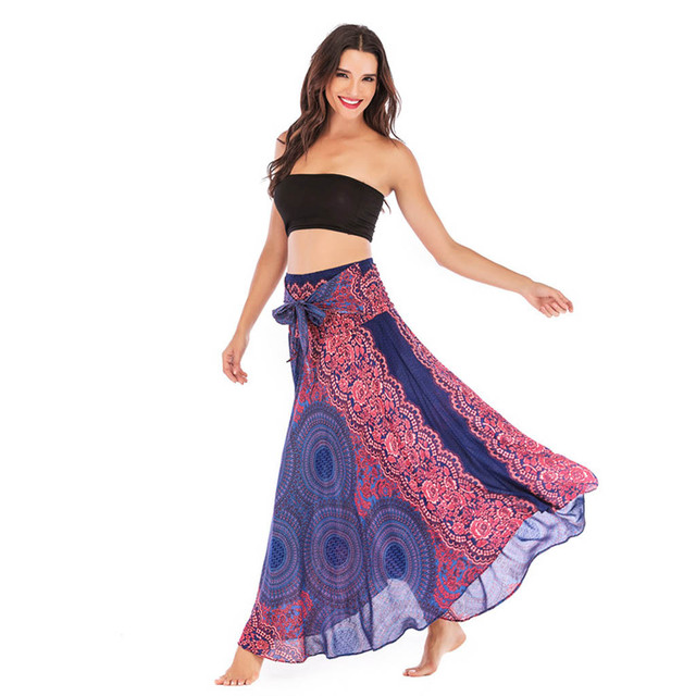 Summer Chiffon Boho Skirt