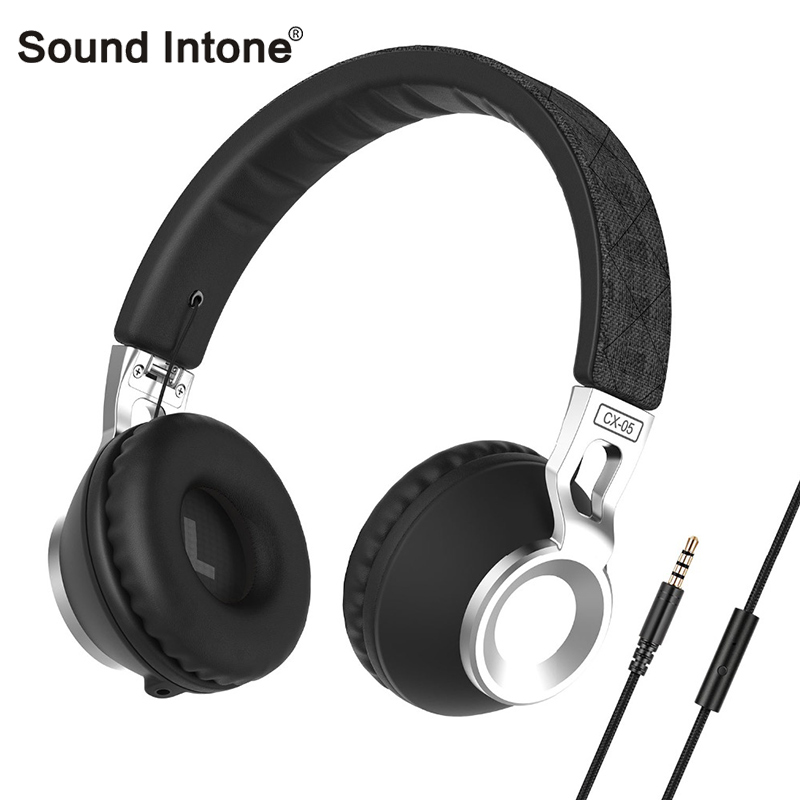 Sound Intone CX-05 Wireless Bluetooth Headphones with Cable-Detachable Headphone Stereo HD HiFi Headsets with Mic for Iphone PC