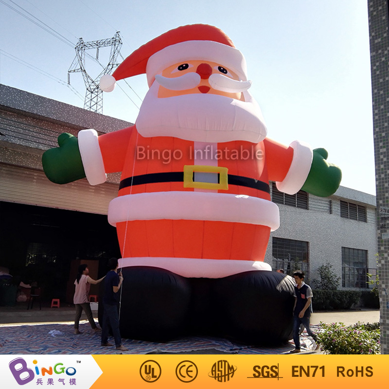 inflatable santa claus 26Ft. (8M) high-BG-A0344 toy 5m high big inflatable christmas santa claus climbing wall decoration 16ft high china factory direct sale festival toy