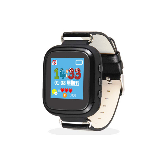 Hot GPS Tracker Watch for Kids Safe GPS Watch Q80 black smart Wristwatch SOS Call Finder Locator Tracker Anti Lost Monitor GSM