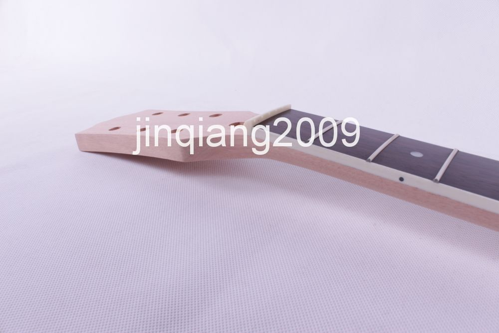 bolt on Unfinished electric guitar neck Mahogany & Rosewood FINGERBOARD #12 f new unfinished electric guitar neck truss rod 24 fret 25 5 free shipping dropshipping wholesale