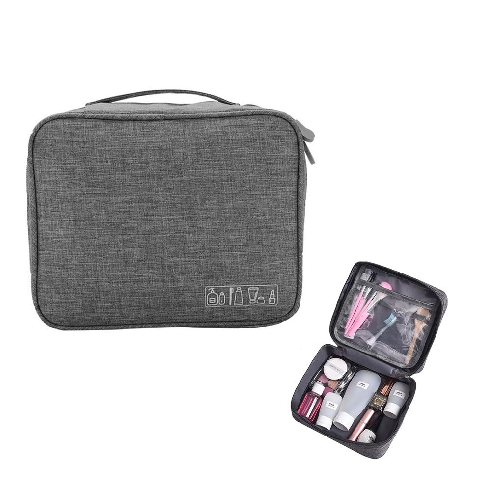 JIARUO Organizer Bag Cosmetic-Bag Makeup Travel-Kit Washing-Toiletries Transparent Interval