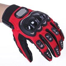 1 Pair Motorcycle Gloves Racing Gloves Fiber PU Red M