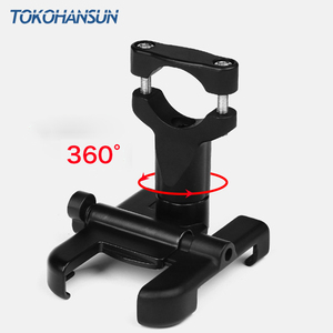 Image 2 - Motorcycle Telephone Holder Support Moto Bicycle Rear View Mirror Stand Mount Aluminum Scooter Motorbike Phone for Samsung s9 s8