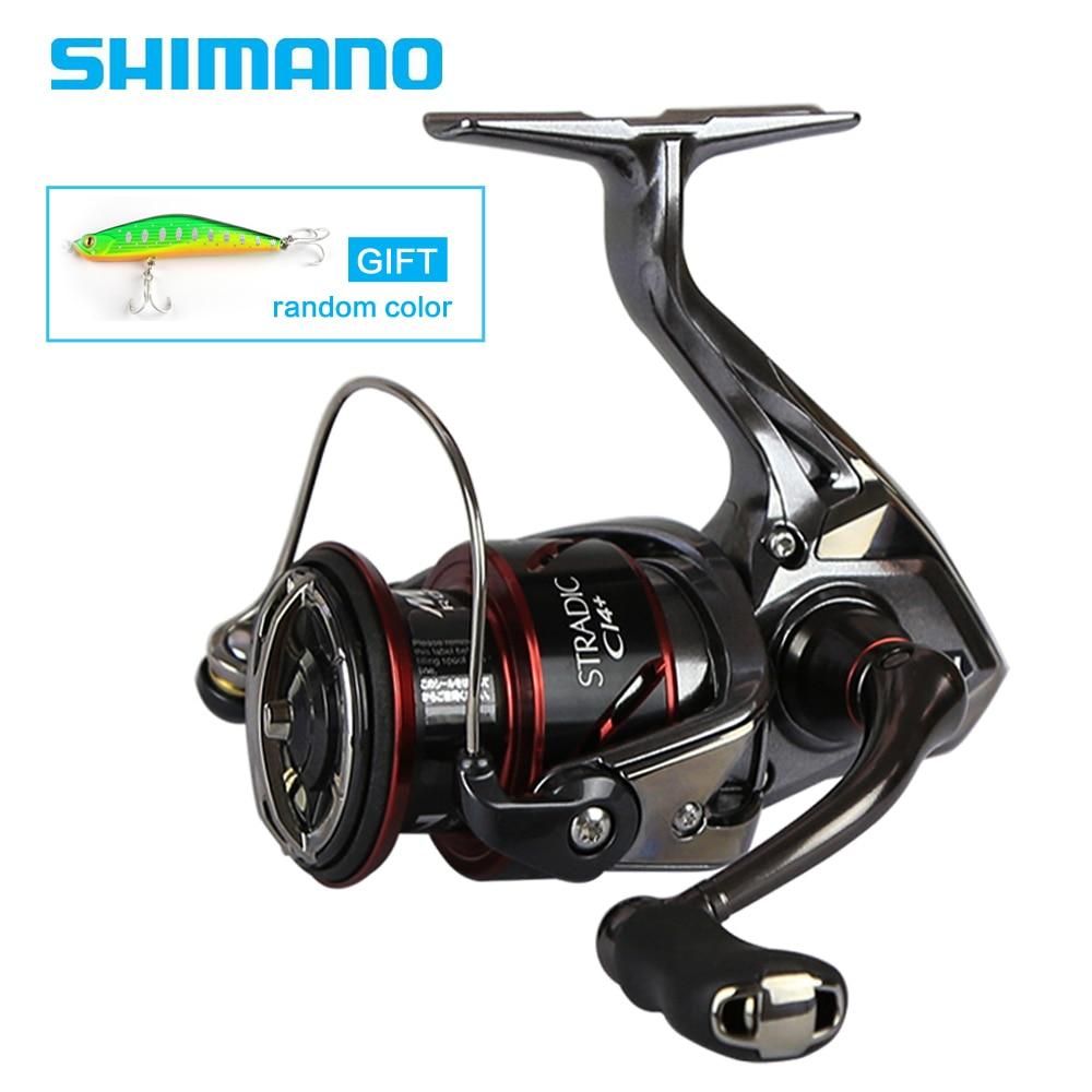 D'origine SHIMANO STRADIC CI4 + 1000 2500 C3000 4000 Spinning Reel Fishing 6 + 1BB 6.0: 1/6. 2:1 X-Le Bateau MGL Filature À ROTOR