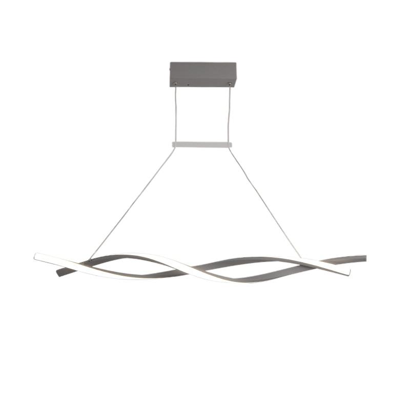 jantar escritório cozinha onda alumínio avize lustre moderno luminárias
