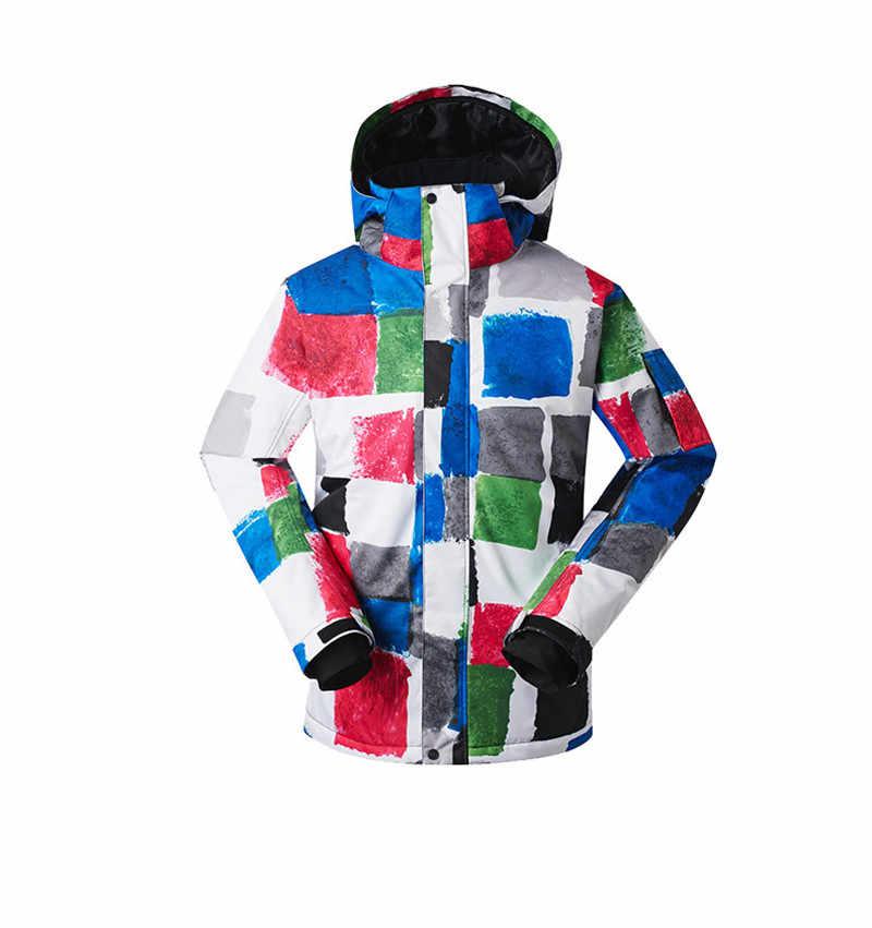 2018 Gsou снег Для мужчин лыжная куртка сноуборд куртка ветрозащитная  Водонепроницаемый уличная спортивная одежда Лыжный Спорт e7196173c0b